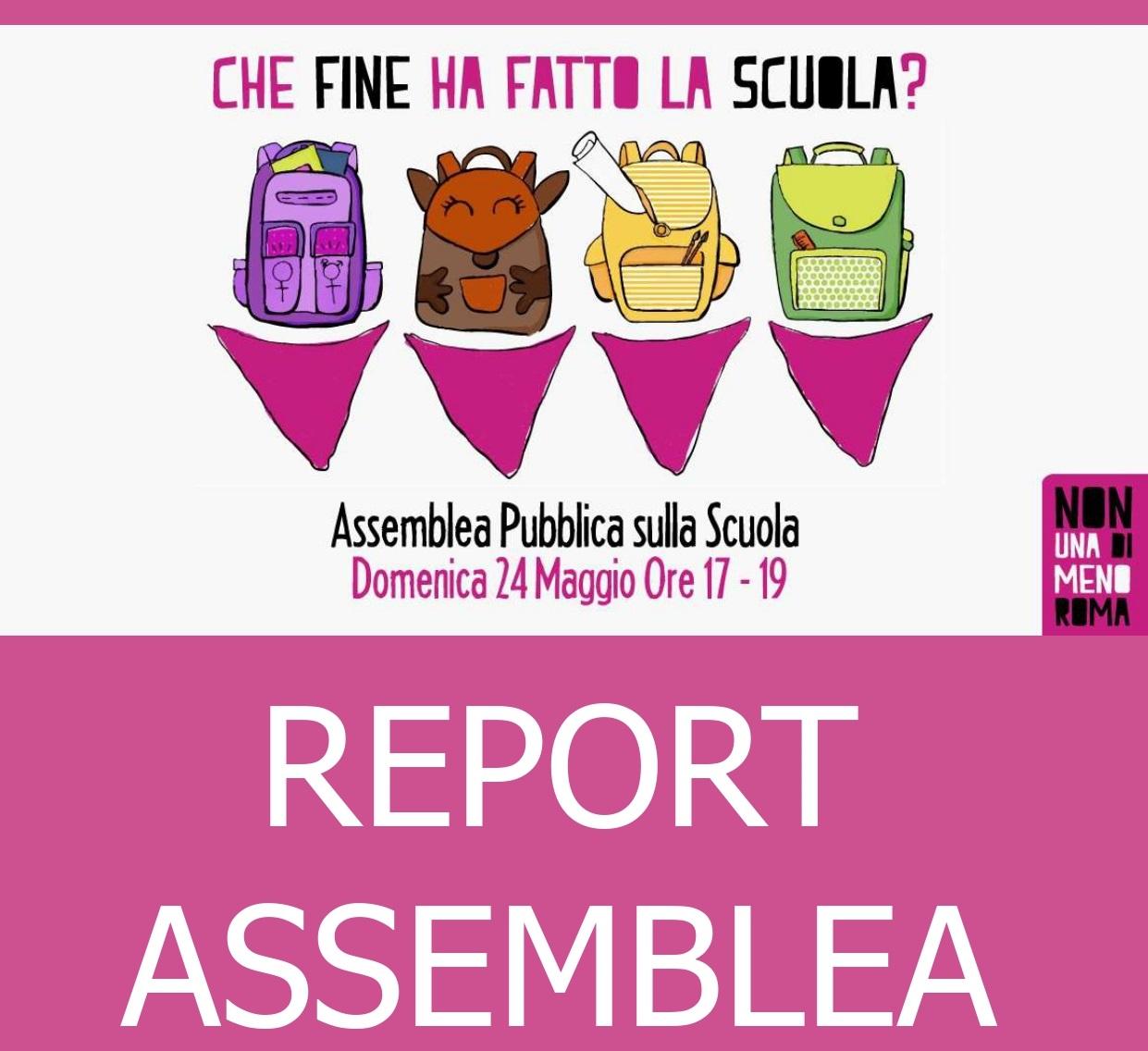 Report Assemblea Scuola Non Una di Meno roma tagliata